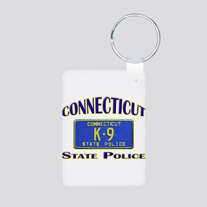 Connecticut State Police Aluminum Photo Keychain