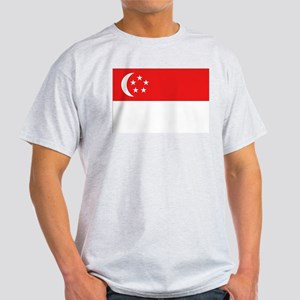 Singapore Flag Ash Grey T-Shirt