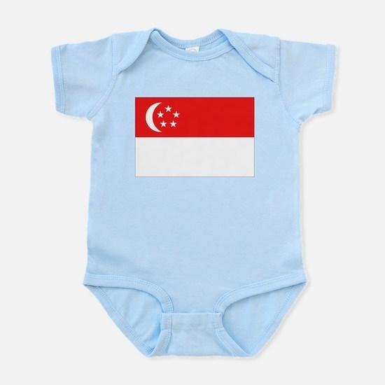 Singapore Flag Infant Creeper