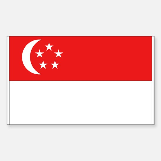 Singapore Flag Rectangle Decal