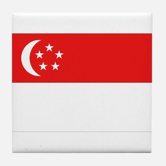 Singapore Flag Tile Coaster