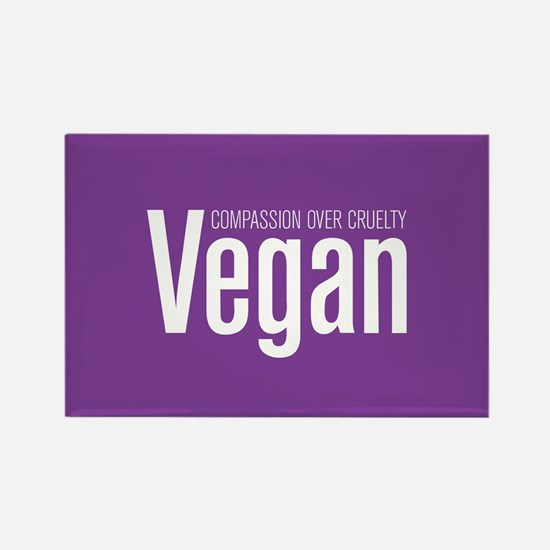 Vegan Compassion Over Cruelty Rectangle Magnet