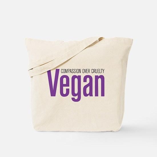 Vegan Compassion Over Cruelty Tote Bag