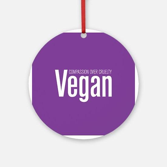 Vegan Compassion Over Cruelty Ornament (Round)