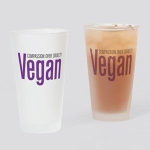 Vegan Compassion Over Cruelty Drinking Glass