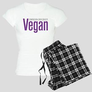 Vegan Compassion Over Cruelty Women's Light Pajama