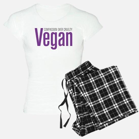 Vegan Compassion Over Cruelty Pajamas