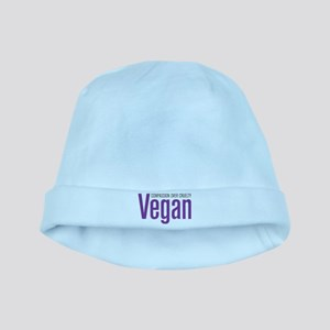 Vegan Compassion Over Cruelty baby hat