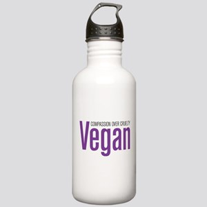 Vegan Compassion Over Cruelty Stainless Water Bott