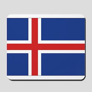 Iceland Flag Mousepad