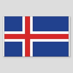 Iceland Flag Rectangle Sticker