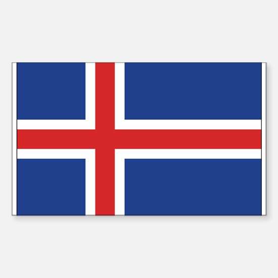 Iceland flag rectangle decal