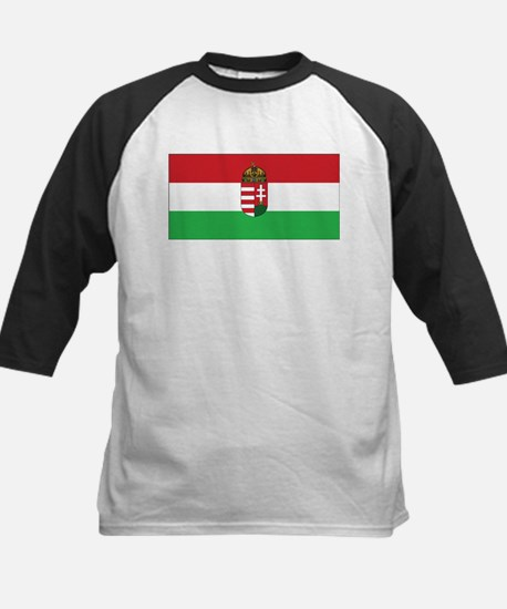 Hungary State Flag Kids Baseball Jersey
