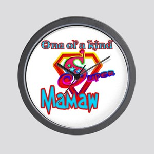 SUPER MAMAW Wall Clock