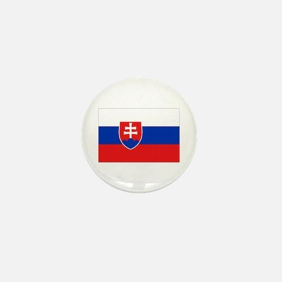 Slovakian Flag Mini Button
