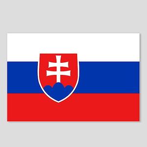 Slovakian Flag Postcards (Package of 8)