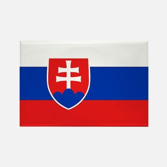 Slovakian Flag Rectangle Magnet