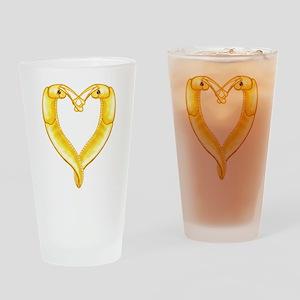 banana slug heart Drinking Glass