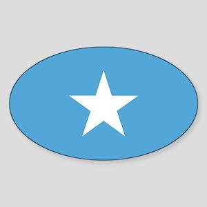 Somalian Flag Oval Sticker