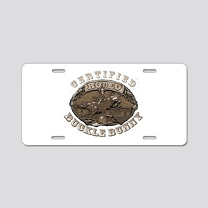Certified Rodeo Buckle Bunny Aluminum License Plat