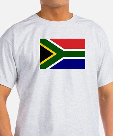 South African Flag Ash Grey T-Shirt