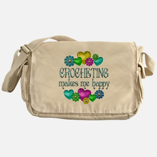 Crocheting Happiness Messenger Bag