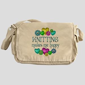 Knitting Happiness Messenger Bag