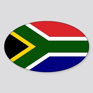 South African Flag Oval Sticker