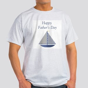 Happy Father's Day (boat) Ash Grey T-Shirt