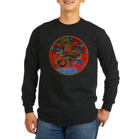 Asian Dragon Long Sleeve Dark T-Shirt