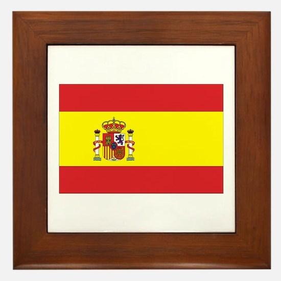 Spanish Flag Framed Tile