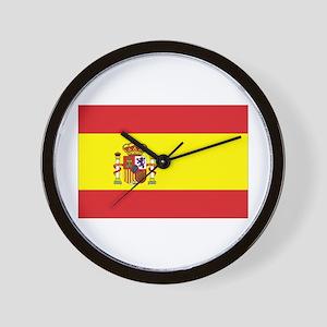 Spanish Flag Wall Clock