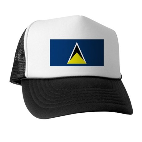 St Lucia Flag Trucker Hat