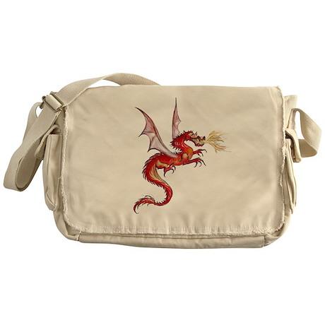 eldest Red Dragon Messenger Bag