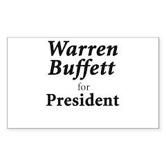 Buffett for President Sticker (Rectangle 10 pk)