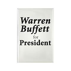 Buffett for President Rectangle Magnet