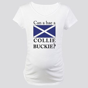 Collie Buckie with Saltire Maternity T-Shirt
