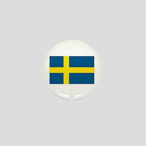 Swedish Flag Mini Button