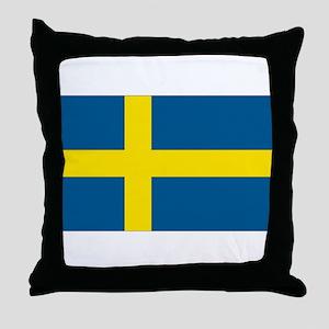 Swedish Flag Throw Pillow