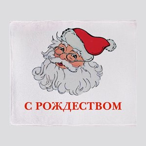 Russian Santa Throw Blanket