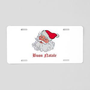 Italian Santa Aluminum License Plate