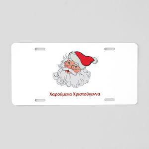 Greek Santa Aluminum License Plate