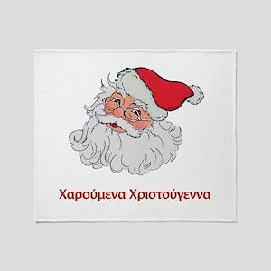 Greek Santa Throw Blanket