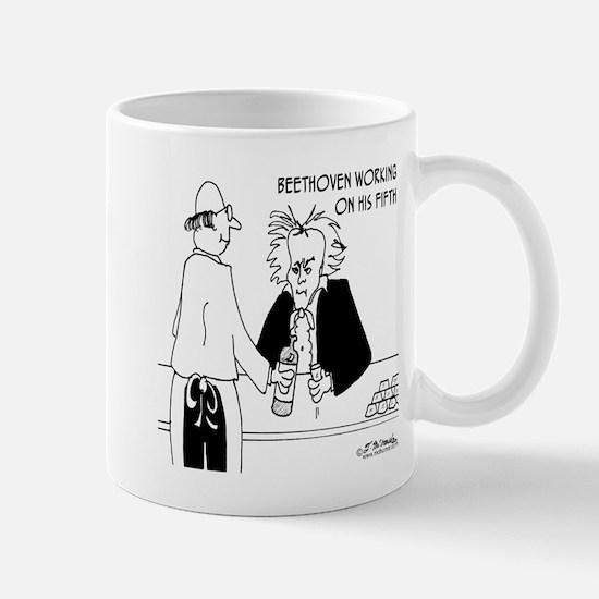 Beethoven Working on His Fifth Mug