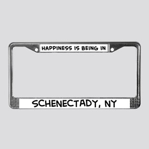 Happiness is Schenectady License Plate Frame
