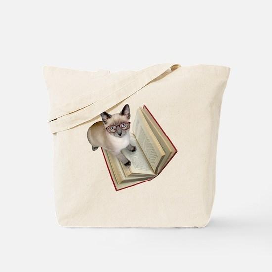 Kitten Book Tote Bag