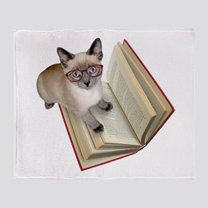 Kitten Book Throw Blanket