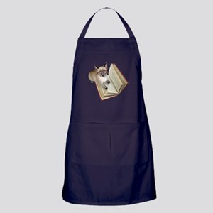 Kitten Book Apron (dark)