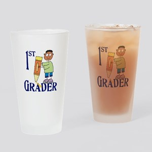 1st Grade Boy Drinking Glass