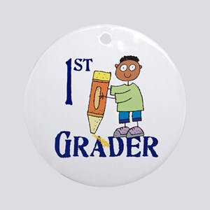 1st Grade Boy (round) Round Ornament